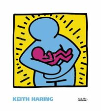 POP ART PRINT - KH10 by Keith Haring 22x20 Hugging Hug Baby Poster