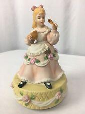"Schmid Little Miss Muffet Rotating Music Box Vintage 1977 ""Tomorrow"" Figurine"