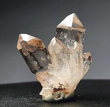 !! TOP: Wasserklare Bergkristall-xx, toller Aufbau (Zepter), Erongo, Namibia !!
