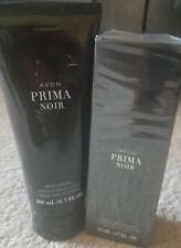 NIB! Avon Prima Noir For Her Set. Body Lotion & Parfume
