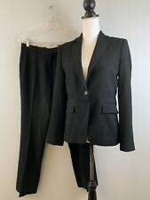 BROOKS BROTHERS Pant Suit Ing Loro Piana Stretch Wool & Silk Black Size 4