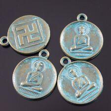10X Antique Style Vintage Bronze Tone  22*18*2mm Buddha Portrait Charms Pendant