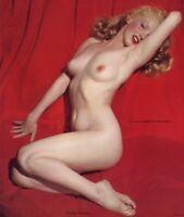 Mint Original Vintage December 1955 Marilyn Monroe Unused Nude Calendar Insert
