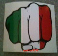 STICKER AUTOCOLLANT CASQUE POING DRAPEAU ITALIE ITALIEN TUNING AUTO VOITURE