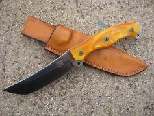 BUSSE Combat Ergo Public Defender Knife Custom Molded Leather Sheath TAN - USA