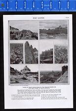 "The ""Bad Lands"" of South Dakota - 1950s Print"