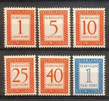 Nederlands Nieuw Guinea Port 1 - 6 postfris