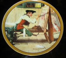 """Knowles Collector Plate """"Sign Of The Times"""" Norman Rockwell Limited Edition 1988"""