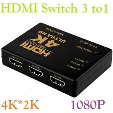 4K * 2K 3 in 1 out HDMI Switch Hub Splitter TV Switcher Adapter For HDTV PC 3D