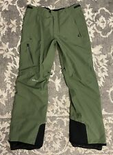686 GLCR GT Gore Tex Snowboarding Ski Pants Men Sz Large Olive Green Black NEW!!