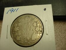 1911 - Canada Silver Half Dollar - Canadian 50 cent coin