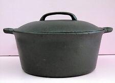 New Vintage Pre-seasoned Cast Iron Dutch Oven with Lid 4.5 Quart WKM