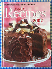 Better Homes & Gardens Annual Recipes 2002 Hardcover Book