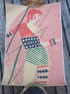 "Unusual David Bowie Ziggy Stardust 1970's Pop Art Poster 16.5"" x 12"""