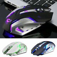 VicTsing 2.4G Wireless LED Backlit USB Optical Ergonomic Game Mouse Rechargeable