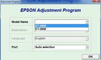 Reset Epson Et2600, Et2650  + Generator Serial full Keygen