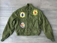 Vietnam Pilot Jacket USN Vtg US Navy WEP Jacket Vtg Flight Jacket with Patches
