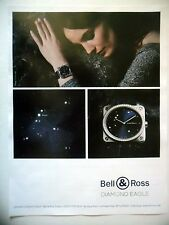 PUBLICITE-ADVERTISING :  BELL & ROSS Diamond Eagle  2016 Montres,Etoiles,Altaïr