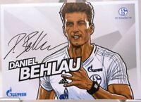 Daniel Behlau + Autogrammkarte 2017/2018 + FC Schalke 04 + AK201869 +