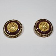 Liz Claiborne Button Clip On Earrings