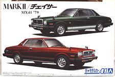 Aoshima 058602 1979 Toyota Mark II & Toyota Chaser 2 Bausätze JDM 1:24