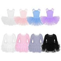 Girls Ballet Tutu Dress Leotard Kid Gymnastics Skirt Dancewear Ballerina Costume