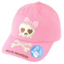 Pirate Princess Pink Skull Girls Youth Relaxed Slouch  Hat Cap Adjustable