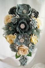Brooch Bouquet Bridal Wedding Bouquet Shabby Chic Vintage Cream/MInt Green