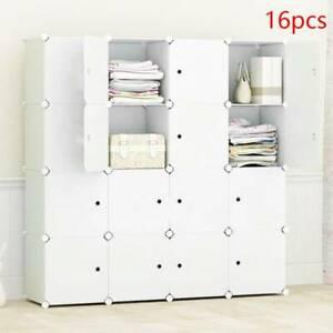 16 Cube DIY Plastic Wardrobe Cupboard Closet Cabinet Organizer Storage Furniture