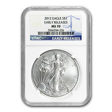 2012 Silver American Eagle MS-70 NGC (Early Releases) - SKU #66874
