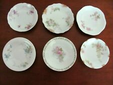 Lot of 6 ~ Assorted Antique China Butter Pats ~ All Limoges France ~ 3 Haviland