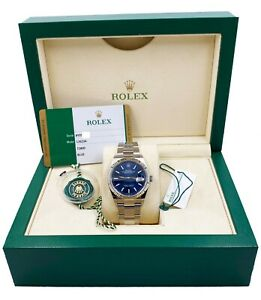 BRAND NEW Rolex Datejust 126234 Blue Dial Stainless Steel Box Papers