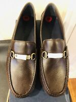 New With Box Cole Haan Provincetown Bit Driving Loafers Brown Pebbled Leather 10