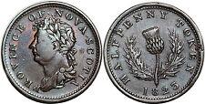 CANADA NOVA SCOTIA HALF PENNY 1823