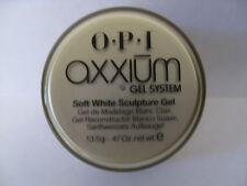 AX112 - OPI AXXIUM SOFT WHITE SCULPTURE Gel  .47oz