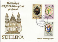 St HELENA 1981 ROYAL WEDDING UNADDRESSED ILLUSTRATED FIRST DAY COVER