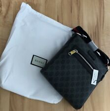 Gucci GG Messenger Bag Black/Gray leather
