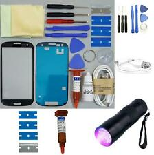 Samsung Galaxy S3 Front Glass Screen Replacement Repair Kit BLACK UV TORCH