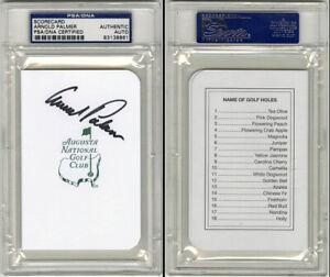 Arnold Palmer SIGNED Augusta National Masters Scorecard PSA/DNA AUTOGRAPHED DEC