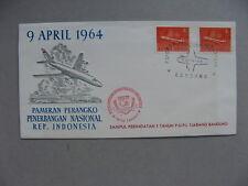 INDONESIA, eventcover 1964, Phil. expo, aeroplane