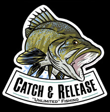 Largemouth Bass Catch & Release Decal - Fishing Sticker