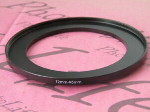 72mm to 95mm Stepping Step Up Filter Ring Adapter 72mm-95mm