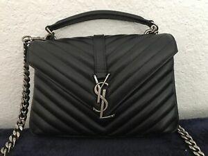 ysl Yves saint Laurent college bag silver chain - hardware