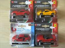 lot de 4 Sets BURAGO 3 inches  FERRARI   F12 - 458 - 599 GTO - AUDI R8  1/64