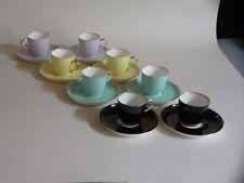 Ginori 8 tazze caffè 'Arlecchino' in porcellana Secolo XIX (originale d'epoca)