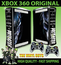 XBOX 360 ALIEN VS PREDATOR HUNTER GIGER CONSOLE STICKER SKIN NEW & 2 PAD SKINS