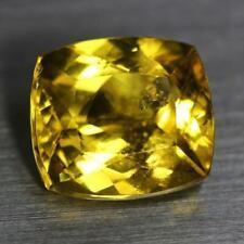 5.15 Ct.Natural Precious Cushion Cut Yellow Color Heliodor Beryl Loose Gemstone