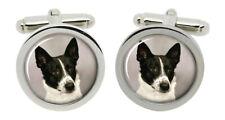 Canaan Dog Cufflinks in Chrome Box