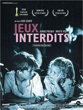 Affiche 40x60cm JEUX INTERDITS 1952 René Clément - Brigitte Fossey R2014 NEUVE