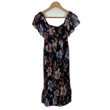 Sussan Womens Dress Size 12 Floral Multicoloured Shift Sleeveless Boho Style